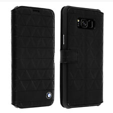 Bmw Book Case Hexagon Leather compatibile con Samsung G955 S8 Black -