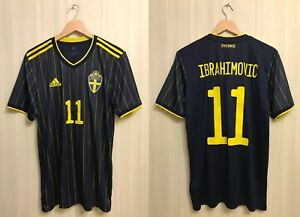 Sweden #11 Ibrahimovic 2020/2021 away Size M Adidas shirt jersey soccer Sverige