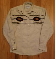Tru-West Rockmount Ranch Wear Embroidered Pearl Snap Shirt Women's Size Small S