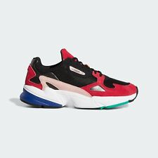 new adidas Originals Women's FALCON Shoes Sneakers sz 7.5 run gym black red pink
