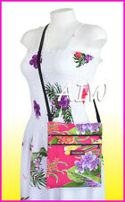 Hawaiian print cross body side bag - 121Pink