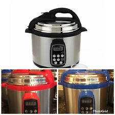 Brand New Stainless Steel Electric Pressure Cooker. Technique 4 Qt Digital Round