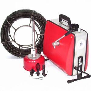 Rohrreinigungsgerät 500W Abflussreiniger 55930 Rohrreiniger 16mm Spirale Abfluss