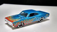 Hot Wheels 1968 DODGE CORONE BLUE / Orange / Red Flames Black Interior Collector