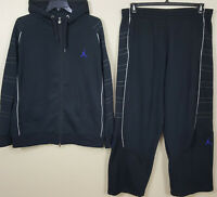 "NIKE JORDAN XI RETRO 11 ""CONCORD"" SUIT HOODIE + PANTS SPACE JAM BLACK (3XL 2XL)"