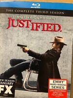 Justified: The Complete Third Season (Blu-ray Disc, 2012, 3-Disc Set)