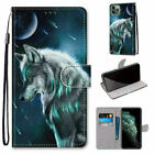 Wolf Flip Wallet Phone Case For Samsung S7 S8 S9 S10 S20 Note 20 A51 A01 A71 A31