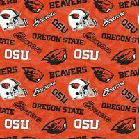 Mississippi State University Bulldogs Cotton Fabric Geometric Print-By the Yard