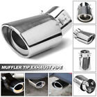 Car Chrome Stainless Steel Rear Exhaust Pipe Tail Muffler Tip Round Accessories