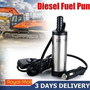New DC 12V Submersible Pump Water Oil Diesel Fuel Transfer Cigarette Plug 38mm