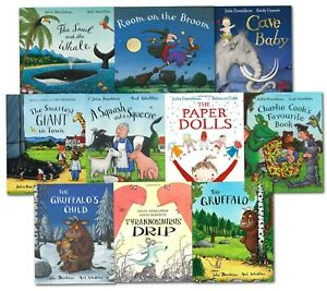 Julia Donaldson Picture Book Collection 10 Books Set The Gruffalo Child Cave Bab