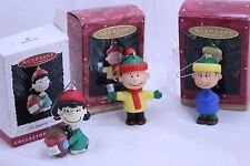 Peanuts Gang Ornaments Set Lucy, Linus Charlie Brown Hallmark Holiday Keepsake