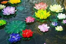 Artificial lotus water lilies faux floating flower plant fish tank garden pool