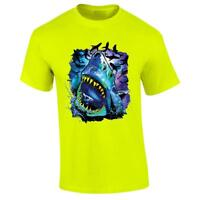 Cosmo Shark T-shirt Ocean Predator Jaws Sea Rave Tee