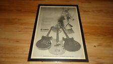 YAMAHA guitars SG2000/BB1200/SF1000-1980 framed original poster sized advert