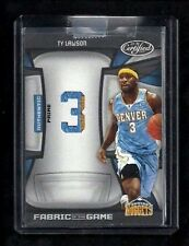Ty Lawson Certified FABRIC OF THE GAME Patch ROOKIE #3/25! Jersey #! 1/1? Kings!