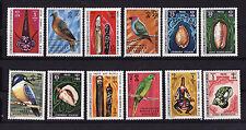 Nouvelles-Hébrides  Francaise  série oiseaux coquillages    num: 326/37  neuf **