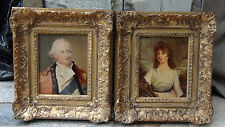 PAIR ANTIQUE ENGLISH SCHOOL OIL PORTRAITS OF LADY HAPPNER & LORD FON WELTON