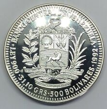 1992 Venezuela 500 Bolivares Silver Proof Coin (G350)