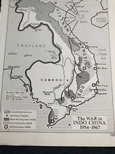 Map: War In Indo China 1954-67 American Preparedness In 1960 Maps Print