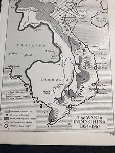 Map: War In Indo China 1954-67 American Preparedness In 1960 Maps Map Print