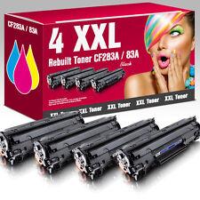 4 Toner für HP LaserJet Pro MFP M125nw M125rnw M126a M127fw M128fp CF283A 83A
