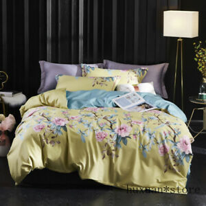 Chinoiserie Botanical Floral Duvet Quilt Cover Queen King Luxury Bedding Set New