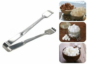 "🔥 4"" Stainless Steel Sugar Tongs Teeth tea coffee Ice cubes Silver Kitchen Tool"