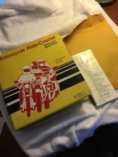Vintage 1991 Motorcycle Riding Course Manual Instructor Guide RiderCourse Safety