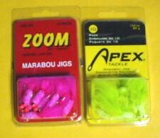 7 PACKS APEX /& ZOOM  MARABOU JIGS-1 EACH COLOR//SIZE