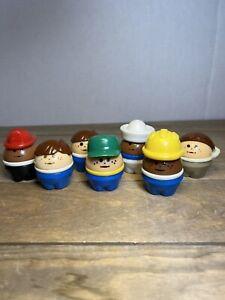 Lot of 7 Vintage LITTLE TIKES Chunk People Figures, Sailor, Fireman, Pilot, More