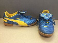 Puma Esito Indoor Soccer Shoes Blue Yellow Youth 6