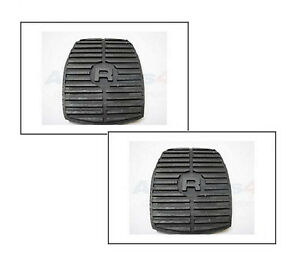RANGE ROVER CLASSIC DISCOVERY BRAKE & CLUTCH RUBBER PEDAL PAD SET x2 575818 NEW
