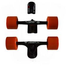 Easy People Longboards Black Truck set Orange wheels,Spacer,ABEC-7