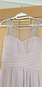 Little Mistress Size 14 Bridesmaid Evening Dress Mink Or Dusky Pink