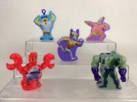 LOT (5) Spongebob Squarepants Toy Figures Squidward Patrick Plankton