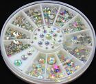 Dazzling Fashion Posh 5 Sizes Multicolor Acrylic Nail Art Glitter Rhinestones