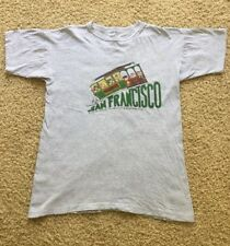 Vtg 1980's Peanuts Schultz Charlie Brown San Francisco Cable Car Shirt  Size XL