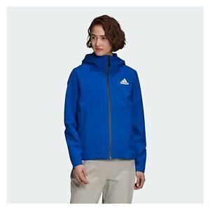 Rain Jacket adidas Womens Windproof Waterproof Coat Hiking RAIN RDY Recycled
