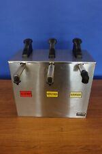 Server Express 3 Place Condiment Dispenser / Pump Ketchup Mustard
