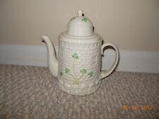 VINTAGE Ireland Irish Belleek Light House Tea Pot Green Mark w/sticker Shamrock