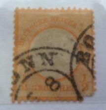 1872 Impero Tedesco piccolo Eagle 1/2 Grosso Timbro Arancione