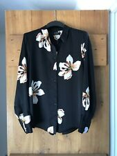 Marks /& Spencer Womens Blue Iris Floral Satin Blouse M/&S Top Sizes 6-22