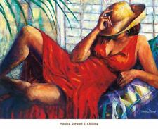 Chilling Monica Stewart African American Art Print 32x24