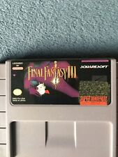 Final Fantasy 3 Super Nintendo Snes 100% Tested And Working