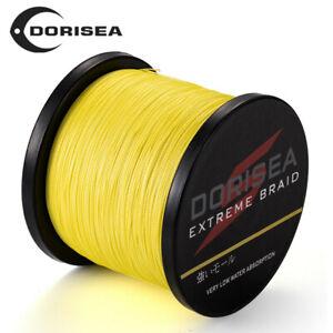 Jaune DORISEA 100M 300M 500M 1000M Superbe Énergie Tressé Pêche Fil 2.7kg-136kg