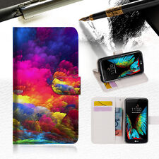 Colorful Cloud Wallet Case Cover For ZTE AXON mini --A021