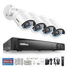ANNKE 4MP POE 4CH 6MP Surveillance NVR ROI Outdoor Security Camera System 3D DNR