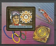 Centrafrique Sport Jeux Olympiques Olympics Games Weissflog ** 1984 Or Gold Foil