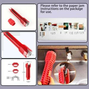 Metal Sink Installer Spanner Wrench Lever 1pcs Red Kitchen Sink Multi Tool New